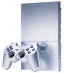 Sony Playstation 2 Slim Line Console - Silver Includes: 1 X PS2 Slim Sliver Console 1 X PS2 Silver Wired Controller A v Cable &