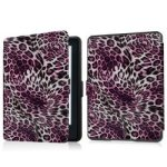 2016 Kindle 6 Touch E-reader Smart Case Cover For All-new Kindle 2016 Release 8th Generation Only Leopard Purple