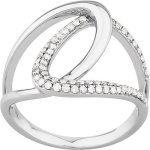 Diamond Dress Ring 9ct in White Gold