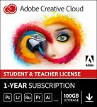Adobe Student & Teacher Edition Creative Cloud Student teacher Validation Required |12-MONTH Subscription With Auto-renewal Bill