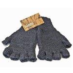 The Bespoke Artichoke Fingerless Gloves Medium-bamboo Blend Recommended Men's Size - Midnight