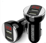 Dual USB Car Charger For Samsung Xiaomi Phone Chargers 5V 2.4A Smart Digital Car-charger For Iphone Ipad Universal Charge - Car