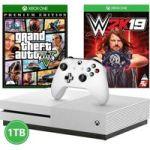 Microsoft Xbox One S Console 1TB with WWE 2K19 & GTA V