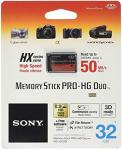 MSHX32B 32GB Sony Memory Stick Pro-hg Duo Hx High-speed Memory Card For Sony Devices