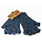 The Bespoke Artichoke Fingerless Gloves Small- Bamboo Blend Recommended Women's Size - Dark Denim