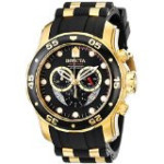 Discountwatches_SA Invicta Men's 6981 Pro Diver Collection Chronograph Black Dial Black Polyurethane Watch Parallel Import