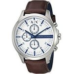 Emporio Armani Armani Exchange Navy Dial Brown Leather Strap Men's Watch Item No. AX2133