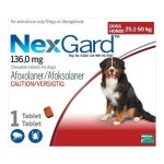 Nexgard 6g 1 Dose in Red for 25.1-50kg Extra Large Dogs