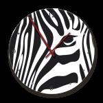Clock With Stylised Zebra Image