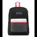 JanSport Exposed Backpack Black fluorescent Red