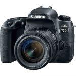 Canon Eos 77D Dslr Camera + Ef-s 18-55M F4-5.6 Stm Lens