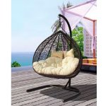 2-SEATER Hanging Chair Brown
