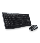 Logitech MK270 Wireless Keyboard Mouse Combo in Black