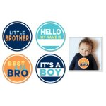 Sticky Bellies Little Brother Stickers 4-pack