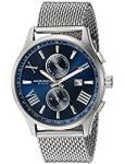 Akribos Xxiv Men's Swiss Quartz Silver-tone Mesh Stainless Steel Bracelet Watch AK905SSBU