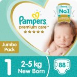 Pampers Premium Care 108 Nappies Size 1 Jumbo Pack