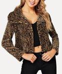 Leopard Print Oversize Teddy Coat