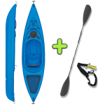 ANAC Sports Recreational Sit in Kayak with Free Paddle & Paddle Leash