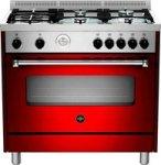 LA GERMANIA Americana Gas Hob & Electric Oven 90CM Burgundy