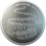 25 Years Of Constitutional Democracy - R50 1OZ Sterling-silver Coin