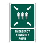 Emergency Assembly Point Safety Sign With Description