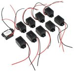 Aexit 10pcs 12x9.5mm Relays Long Beep Active Electromagnetic Buzzer Warning Buzzer /& Chime Integrated DC5V