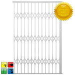 Alu-glide Security Gate - 2200MM White-limited Stock