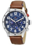 Discountwatches_SA Tommy Hilfiger Men's 1791066 Stainless Steel Watch With Brown Synthetic Band Parallel Import