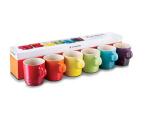 Le Creuset Rainbow Cappuccino Mugs Set Of 6