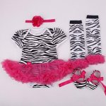 NPK Collection Reborn Baby Doll Clothes Outfit For 20-23 Inch Reborns Newborn Babies Matching Clothing Stripe Tutu Dress Four-pi