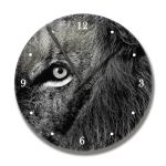 Clock With Reflection Lion Image
