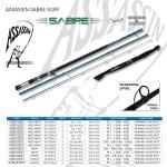 "Assassin Sabre Surf 14"" Sb Cast Rod"