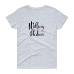 Azaliah Willing Obedient Ladies Short Sleeve T-Shirt - Grey Heather Black M