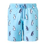 Granadilla Swim Penguins Baby Blue Long - M
