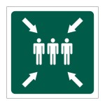 """Emergency Assembly Point"""" Safety Sign"""