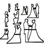 Silhouette Wedding Cutter Set